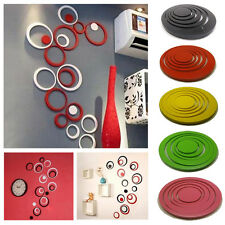 New Circles Stickers - 5 Rings 3D Wall Art Decals Home Decor Removable Stickers