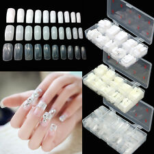 Boxed 100/500 pcs French Half Full Artificial False Nails Tips Acrylic Nail Art