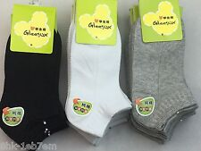 12 Pairs Low cut Kids Crew Ankle Socks Boy Girl 4-12 years colors&Size options