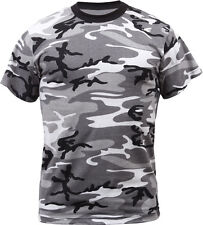 City Camouflage Tactical Military Short Sleeve Army Camo Shirt
