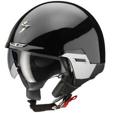 Scorpion Exo-100 Padova 2 Gloss Black Open Face Motorcycle Helmet