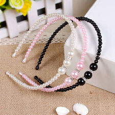 1x Alice Band Accessories Girls Hair Beauty Headbands Rhinestone Faux Pearl SO1