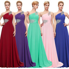 One Shoulder Sleeveless Long Formal Dress Luxury Beaded Ball Gown Evening Prom