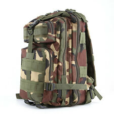 Outdoor Waterproof Camping Military Tactical Backpack Camo Rucksack Trekking Bag