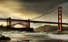 Home Decor print oil painting art Golden Gate Bridge Abstract Art on canvas GB23