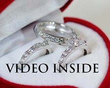 Impress3.18CT His&Hers Engagement & Wedding Engagement/Wedding Ring Sets Silver