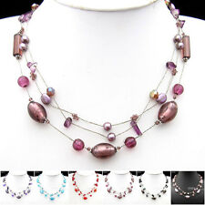 Special Offer, Coloured Glaze Flower Silk Thread Necklace Bracelet Earrings