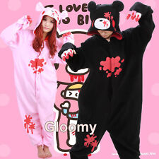 Cute One-Piece Cartoon Gloomy Bear Kigurumi Costume Unisex Pajama Jumpsuit