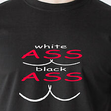 White Ass Black Ass swag booty kim k lopez big butts harlem shake Funny T-Shirt
