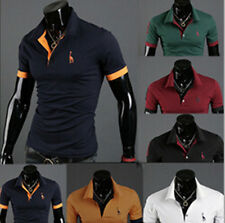 POLO Shirt T-shirt Fashion Short Sleeve Casual Style Tops Tee Mens Slim Fit