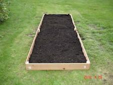 NEW 2X8 CEDAR RAISED PLANTER ELEVATED FLOWER BED GARDEN NEARLY 6 INCHES TALL