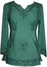 127 B Renaissance Peasant Gypsy Victorian Embroidery Gothic Boho Top Blouse
