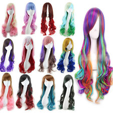 Super Sexy Long Curly Wig Fashion Cosplay Costume Anime Hair Full Wavy Wig Hair