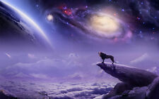 Modern Home Decor HD Prints art oil painting canvas wall art Fantasy wolf dw146