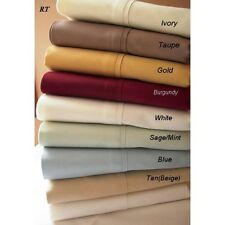 Home Linen Bedding Collection 1000 TC Egyptian Cotton Full-XL All Solid Colors
