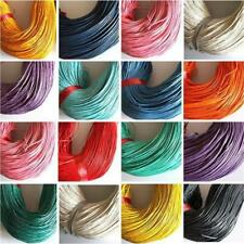 10 Metres of Waxed Cotton Cord Thread Rope Jewellery Crafts Beading String 2mm