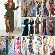 Best Sexy Women Summer Long Maxi BOHO Evening Party Dress Beach Dresses Sundress