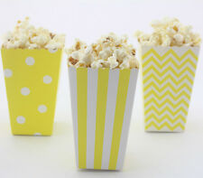 36 x Yellow Treat Boxes Mini Popcorn Boxes Circus Carnival Favor Party Bags