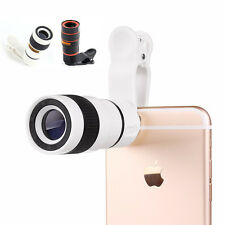 Universal 8X Zoom Optical Clip Telephoto Telescope Lens Mobile Cell Phone Camera