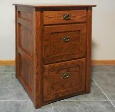 Authentic Mission 2 1/2 Drawer File Cabinet Solid Oak #325