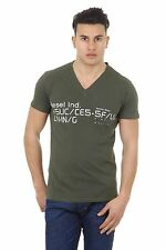 Diesel Men's V Neck T-BAGH-RS T-Shirt GREEN