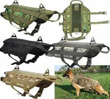 K9 Tactical Army Training Molle Dog Vest Clothes Harness Pack Coat 1000D Nylon