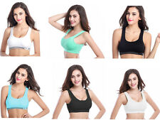 Womens Ladies Seamless Bra Bras Leisure Crop Top Vest Sports Comfort Brassiere