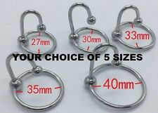 """1.5"""" MINI BEGINNER STOPPER CHASTITY WITH GLANS RING URETHRAL SOUNDS PENIS PLUG"""