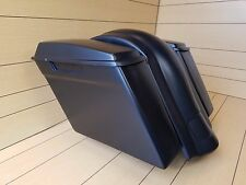 "4""STRETCHED SADDLEBAGS NO CUT OUTS,LIDS AND REAR FENDER FOR HARLEY DAVIDSON"
