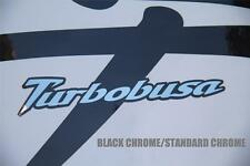 TurboBusa Hayabusa pair of Kanji Graphics GSX1300R 99-07 CHROME COLOR CHOICE!!!