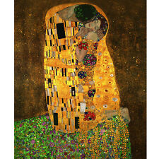 "GUSTAV KLIMT KISS ABSTRACT HOME DECOR ART OIL PAINTING ON CANVAS ""no frame"""