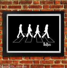 THE BEATLES ABBEY ROAD POSTER FRAMED WALL ART PRINT PICTURE SMALL MEDIUM LARGE