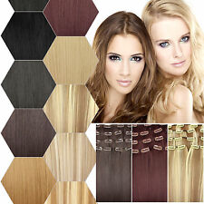 Clip in extension Hair extension Strands Hair piece dick 7 Tresses 16 Clips