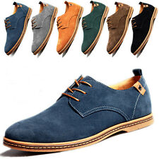 Fashion Mens European Suede Style Leather Shoes oxfords Cozy Casual shoes Flats