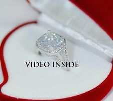 Princess Cut 3.8CT Created Diamond Engagement Wedding Ring in 925 Silver