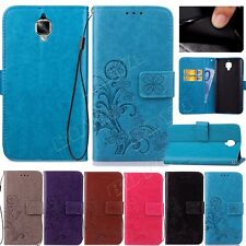 For Samsung Galaxy Note3/4/5 Phone Case PU Leather Clover Print Stand Flip Cover