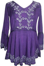 133 B Agan Traders Gypsy Medieval Renaissance Embroidered Top Blouse India
