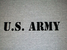 U.S. ARMY Men's Gray T-Shirt ---------- United States - Military - Soldier