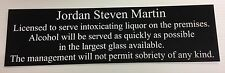 Garden party pub home bar licensee1 engraved personalised sign plaque gift bbq