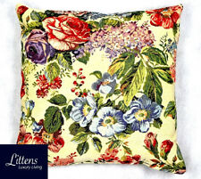 BOUQUET FLORAL FLOWERS 18x18in WOVEN TAPESTRY CUSHION COVER - UK MADE (45x45cm)