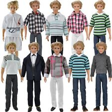 3 Set Casual Wear Plaid Doll Clothes Jacket Pants Trousers For Barbie Ken Doll S