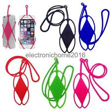 Silicone Lanyard Case Cover Holder Sling Necklace Wrist Strap for Smart Phone