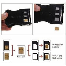 3/2/1 in 1 Universal SIM Card Cutter For Mobile Phones Cell Phone AU