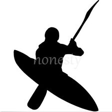 Black Kayaker Kayak Print Car Laptop Window Wall Bumper Vinyl Decal Sticker Gift
