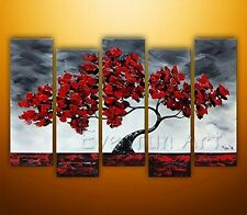 Hand-painted Modern Wall Art Abstract Tree Oil Painting on Canvas ( + framed )