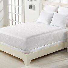 Mattress Pad Pillow Bed Spread Bedding Quilts Soft Topper Cotton Top Skirt Sleep