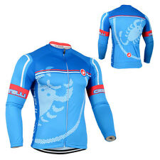 New Mens Classic Long Sleeve Road Cycling Jersey Bike Racing Shirt Tops Outfits