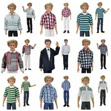 E-TING Casual Wear Shirt Suit Doll Clothes Pants Trousers For Barbie Ken Doll A