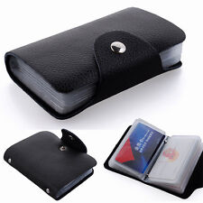 New 12/24 Slots Leather Credit Card Case Soft Pocket ID Holder Bag Wallet Purse