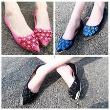 Womens Flats Shoes Ladies Flower Leather Loafers Casual Oxfords Pregnant Shoe JJ